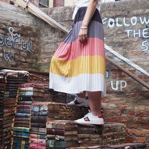 Asos rainbow pleat skirt